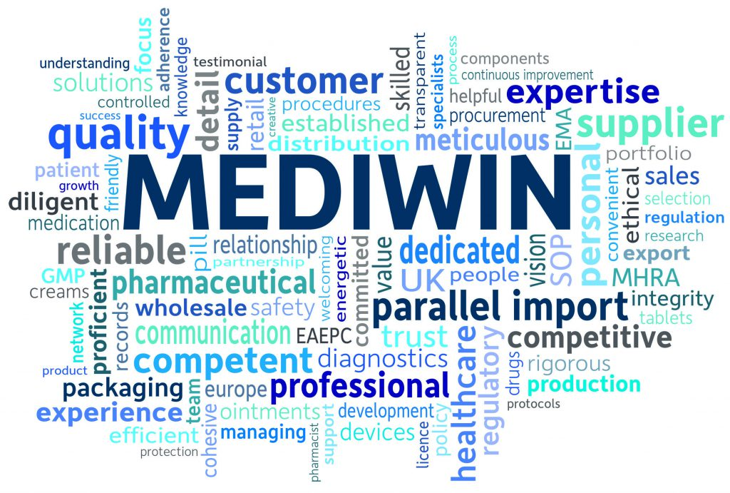 Mediwin has a growing portfolio of products, facilitated by the diligent research of our regulatory team, all carefully repackaged and distributed from our on-site facility where our experienced and friendly sales team offer exceptional customer service. We offer next working day delivery to pharmacies and understand the importance of quality, speed and reliability. We have established ourselves as a major player in the European parallel import market of pharmaceutical products thanks to an energetic, conscientious team of professionals.